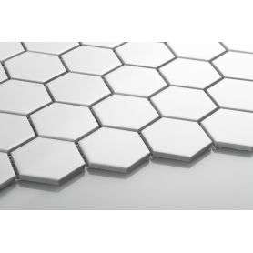Hexagon white matt large