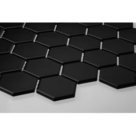 Hexagon black matt large