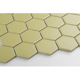Hexagon golden olive matt large