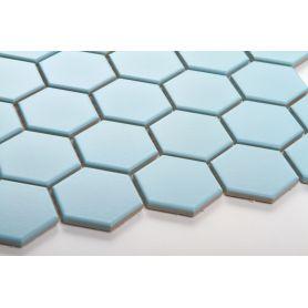 Hexagon blue matt large