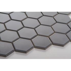 Hexagon gray matt large
