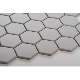 Hexagon light gray matt large