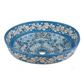 Lorena - Blue Mexican sink