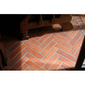 Brick terracotta floor tiles