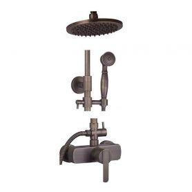 Alessandra - retro brass shower mixer