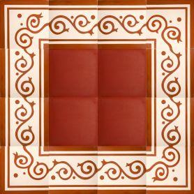 Nostre - Encaustic Tiles - Border and Corner - 34lm