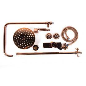 Alessandra - retro pink gold shower mixer