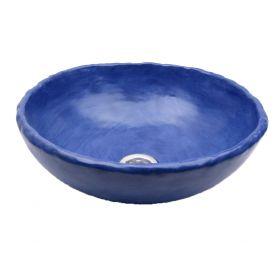 Matylda - artistic blue matte sink