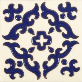 Enrica - Mexican tiles with relief - 30 pieces