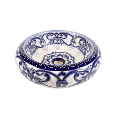 Sabina - mexican vessel sink with relief