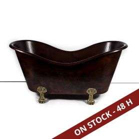Gloria - Mexican clawfoot copper bathtub