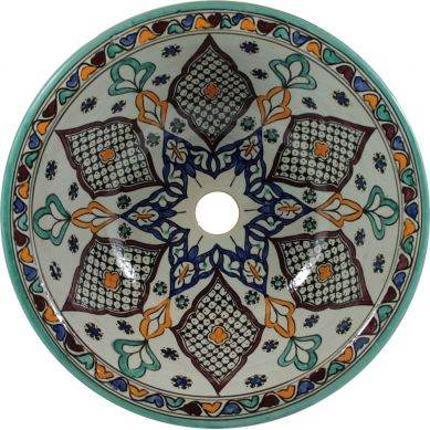 Kama - Moroccan basin with ceramics