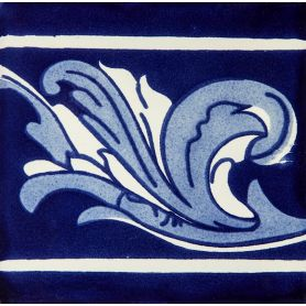 Asturia Cenefa - mexican tiles in cobalt colors 15 x 15 - 22 sztuki