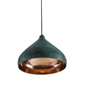 Fresa - a copper lamp, covered with patina