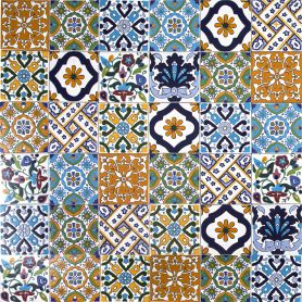 Wati - decorative patchwork from Tunisia 10 x 10 cm, 50 tiles in the box (0,5m2)