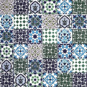 Muhit - decorative patchwork from Tunisia 10 x 10 cm, 50 tiles in the box (0,5m2)
