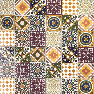 Maraj - decorative patchwork from Tunisia 10 x 10 cm