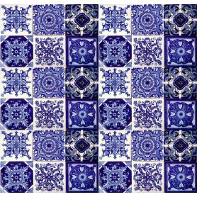 Tono - Blue Mexican Patchwork