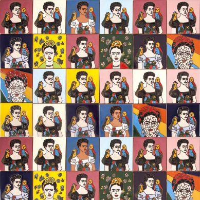 Fridas - 30 tiles set with Frida Kahlo