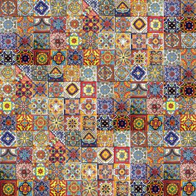 Caliente - mexican tiles - 5x5 cm - 120 pieces
