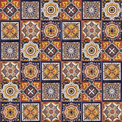 Gael - Mexican Patchwork with relief - 30 pieces