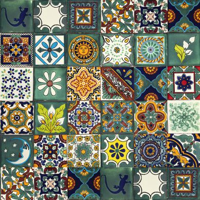 Verde - set of multi-colored wall decors - 30 pieces
