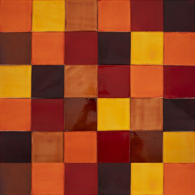 Caramelo - patchwork made of one-color tiles - 90 pcs, 1 m2