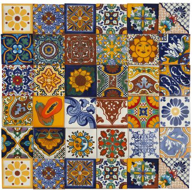 Conrado - ceramic mexican tiles - 30 pieces