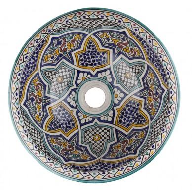 Zanya - Kolorowa umywalka ceramiczna z Maroka