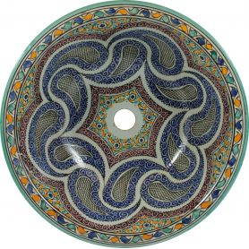 Aisa - hand painted moroccan sink
