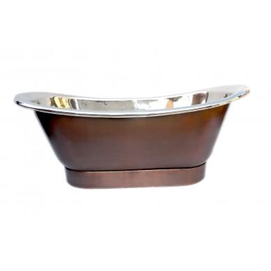 Perlita - nickel plated copper bathtub