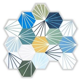 Patchwork - Hexagon Cement Floor Tiles
