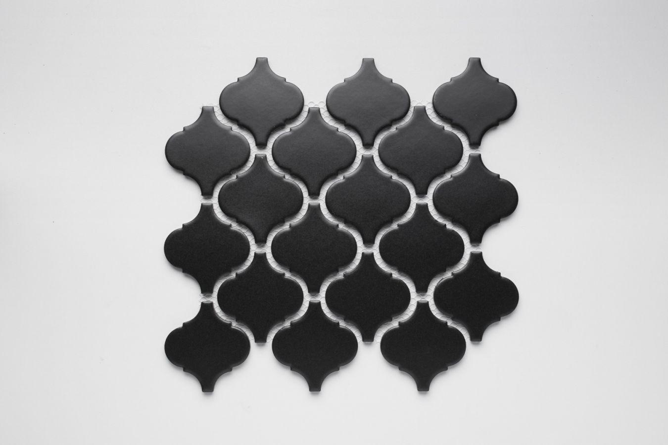 Arabesque Black Matt Mosaic Large