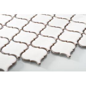 Arabesque cream glossy matt mosaic medium